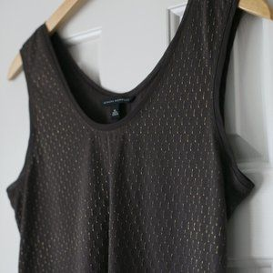 Banana Republic brown gold sleeveless tank top